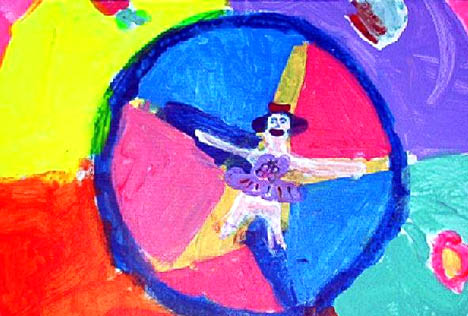 """Dancing Mandala"" by Daphne (5 years old)."